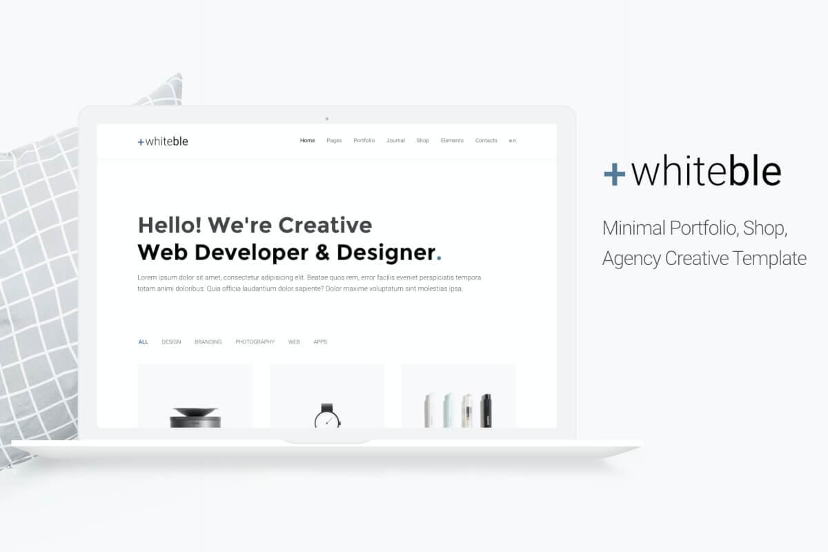 Whiteble-简约风格商店商城Bootstrap网站前端html模板