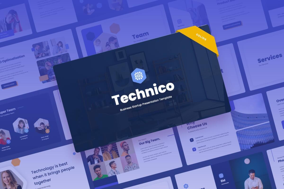 Technico-IT与技术述职报告Google幻灯片模板