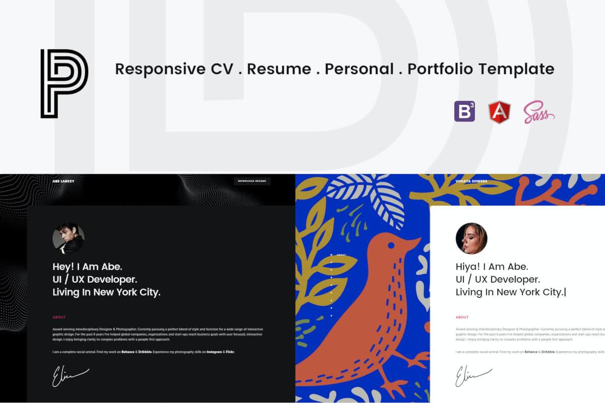 Penelope-响应式网站简历HTML前端模板