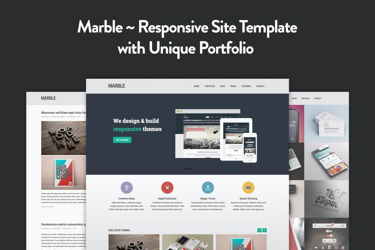 Marble-扁平设计网站Bootstrap自适应HTML5前端模板