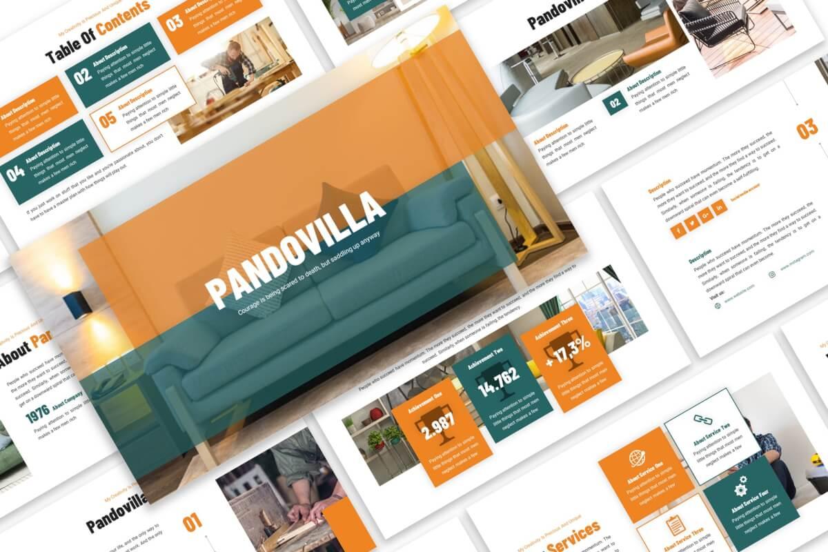 Pandovilla-家具产品展销业务推广PPT模版