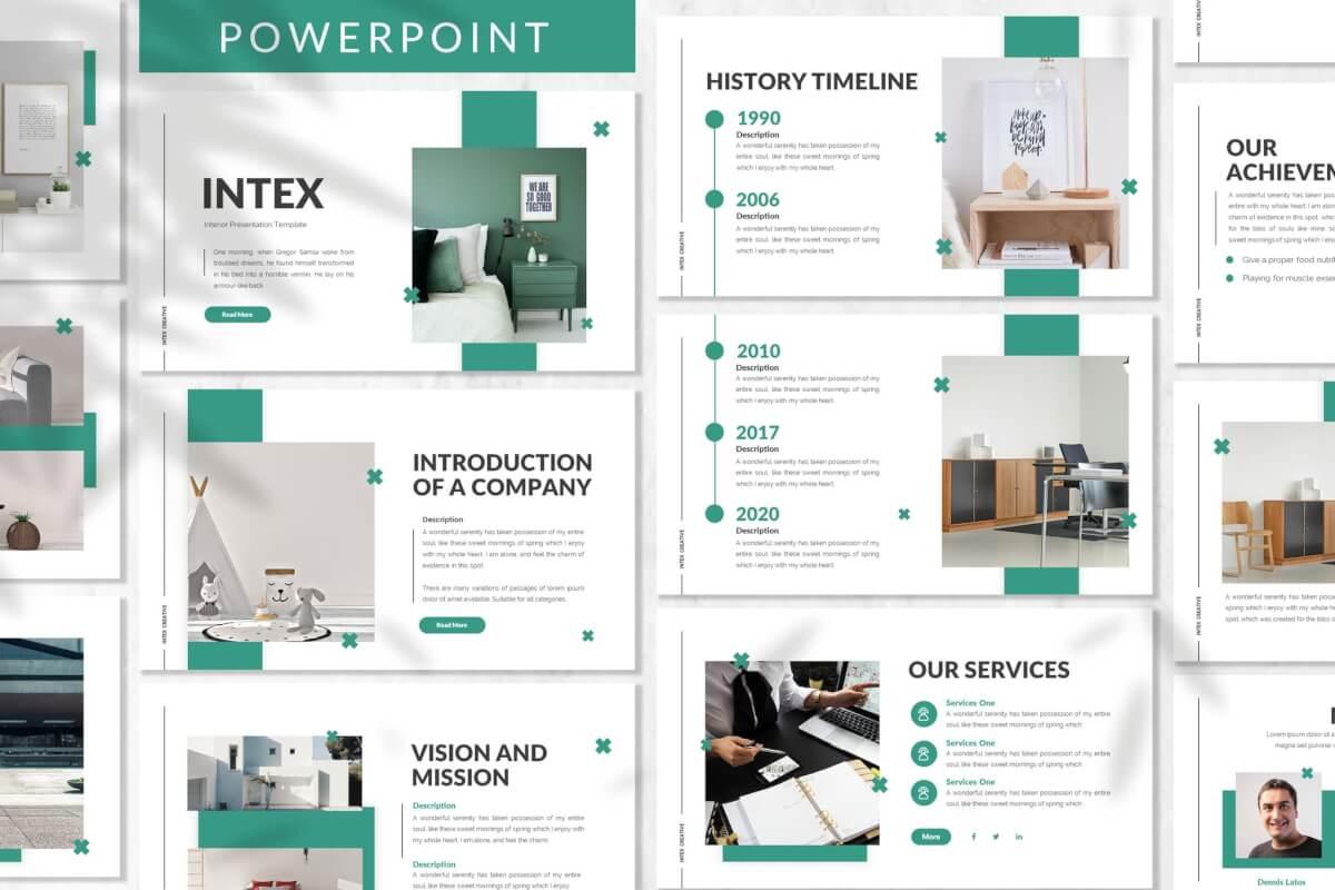 Intex-室内设计家居装饰装修公司介绍PPT模板