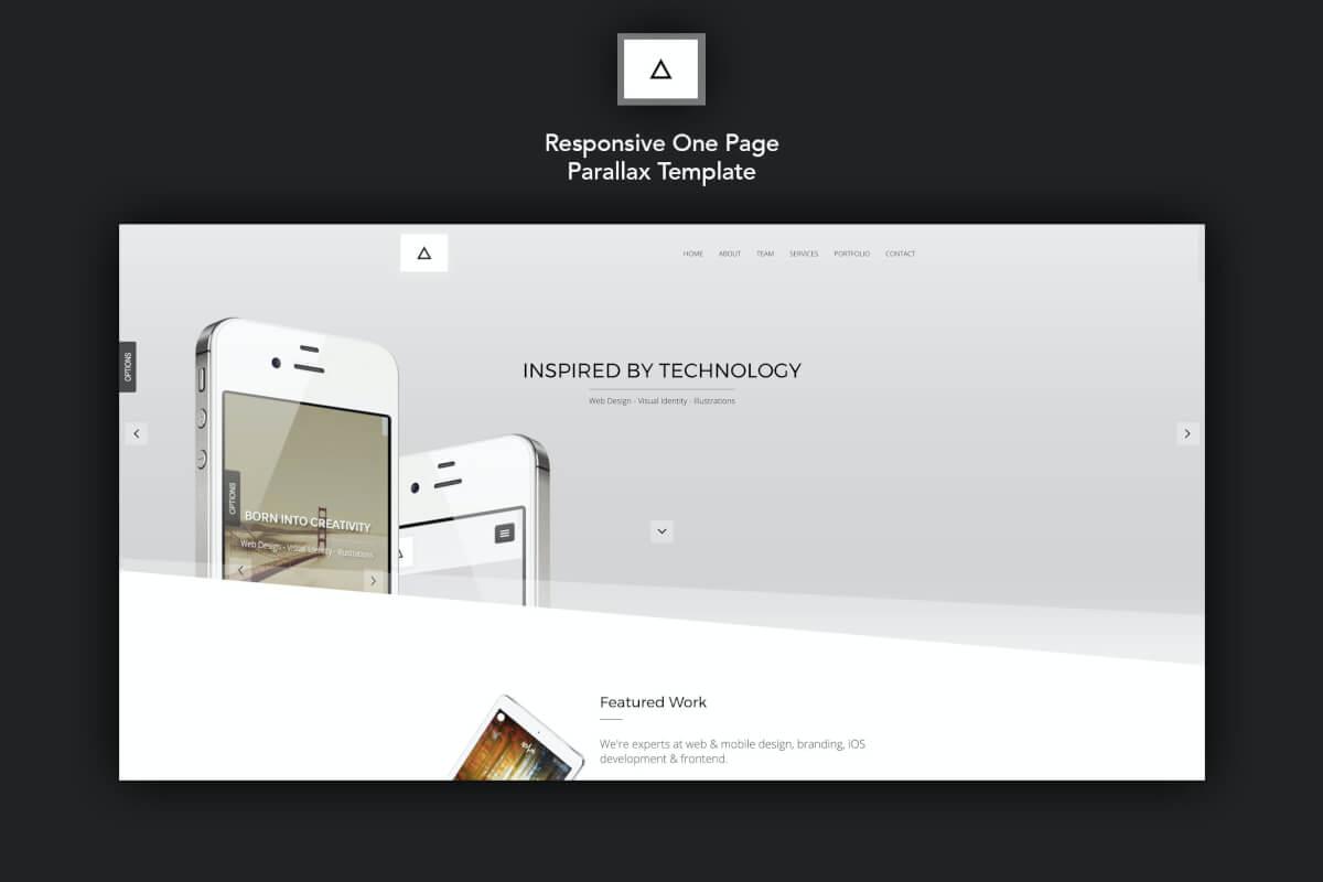 Delta-多用途自适应网页html前端设计模板