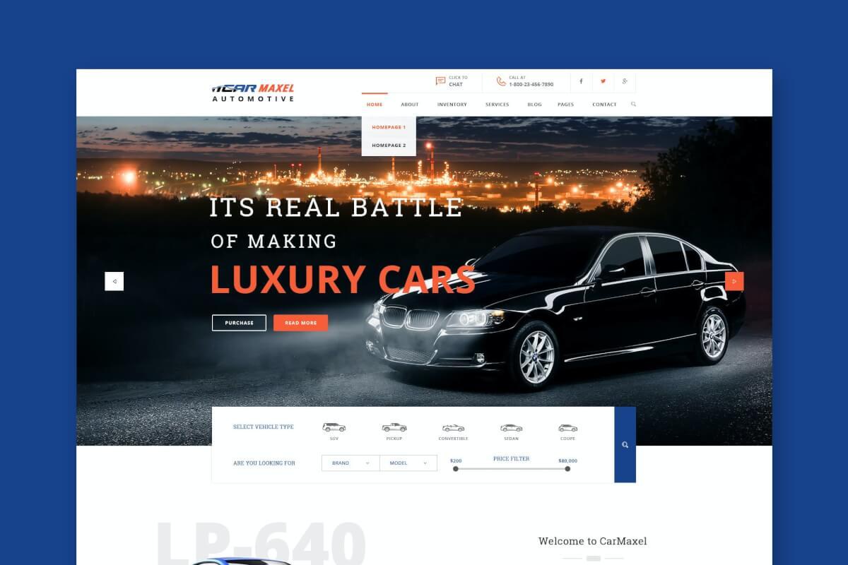 Car Max-汽车行业网站HTML前端设计模板