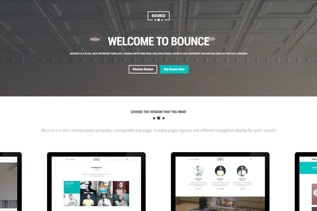 BOUNCE-响应式多用途网站html前端设计模板