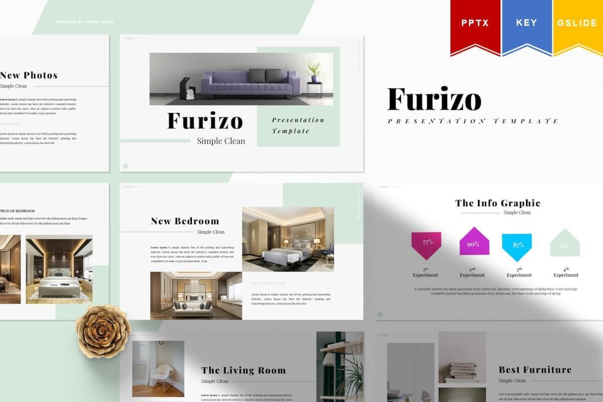 Furizo-简报简约商业计划书PPT模板