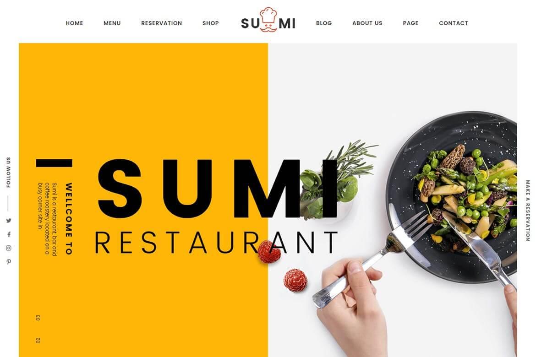 Sumi-苏米餐厅网站源码HTML前端模板