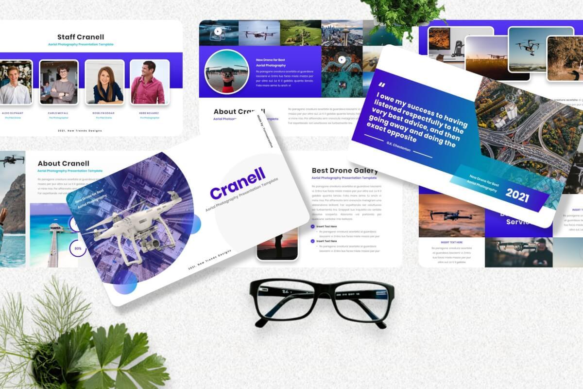Cranell-航空摄影无人机商业GoogleSlide模板