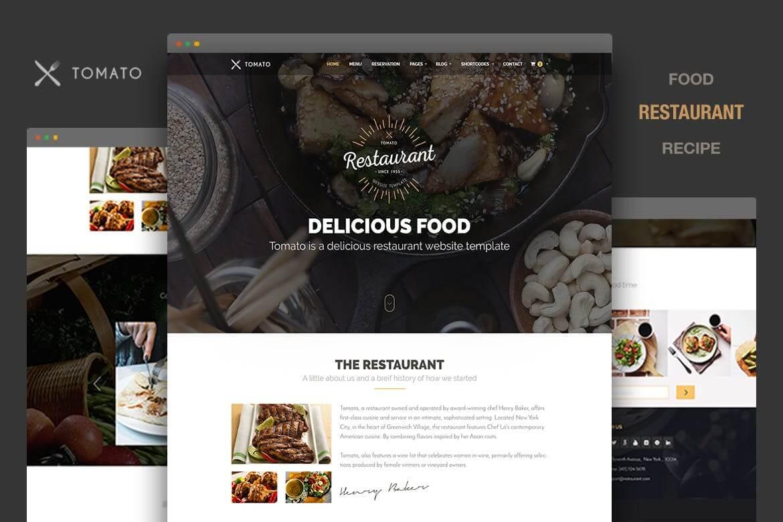 Tomato-西餐厅响应式网站HTML5前端模板
