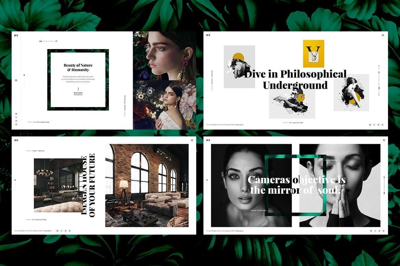 Ivy-摄影作品集代理商HTML前端模板