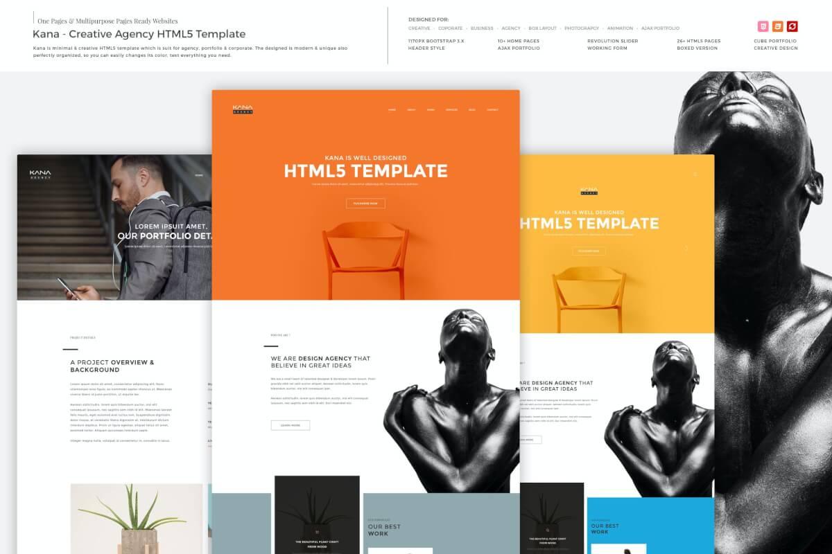 Kana-品牌电商宣传网站前端HTML5模板