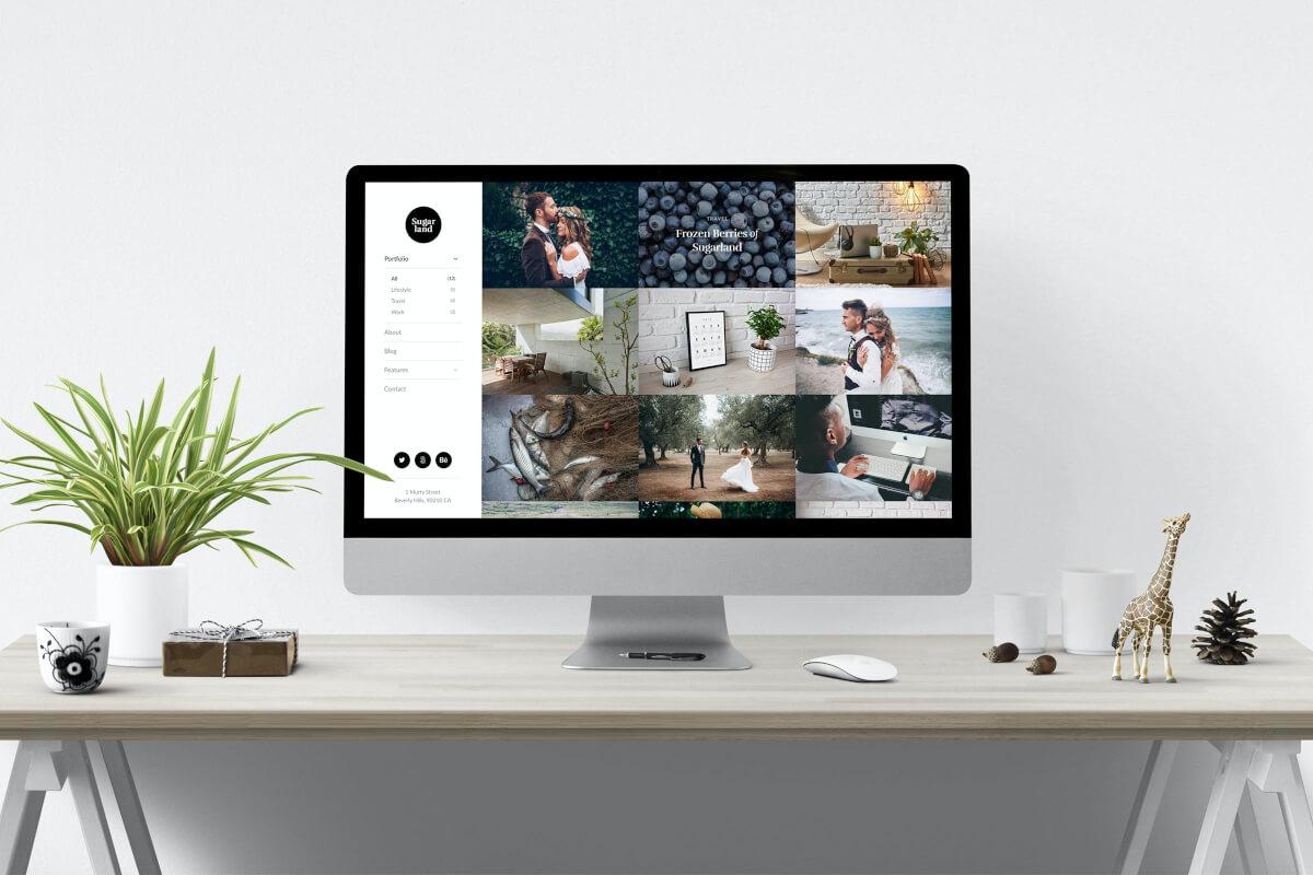 Sugarland-摄影创意作品集网站展示html前端模板