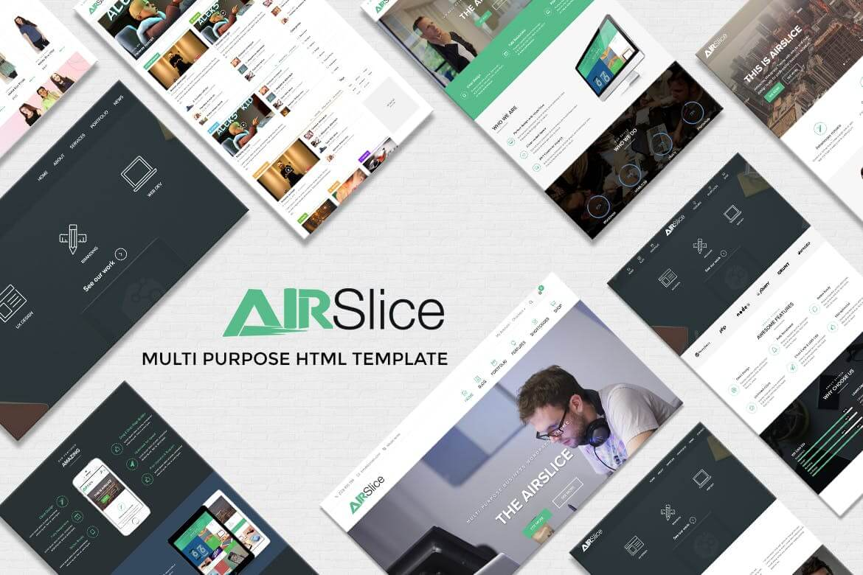 AirSlice-多用途网站HTML自适应前端模板
