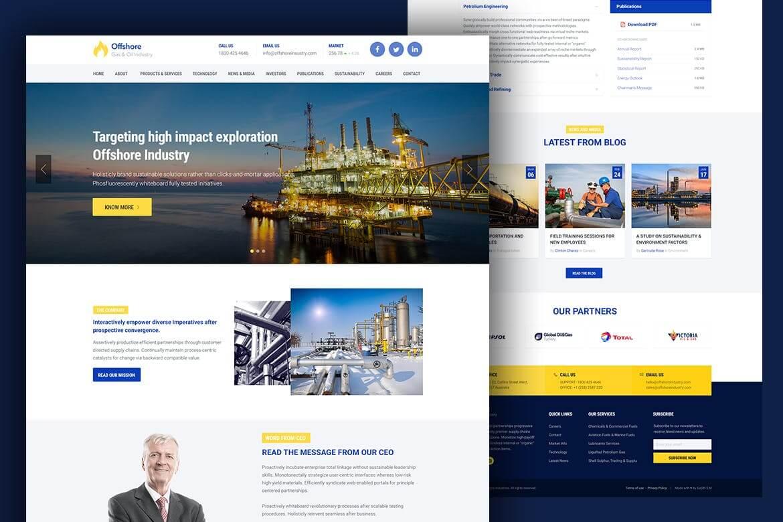 工业商业自适应网站HTML5前端模板