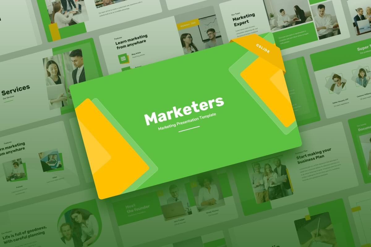 Marketers-商务风企业营销策划Google幻灯片演示文稿
