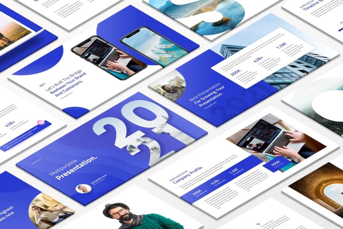 2021创意多用途Powerpoint模板