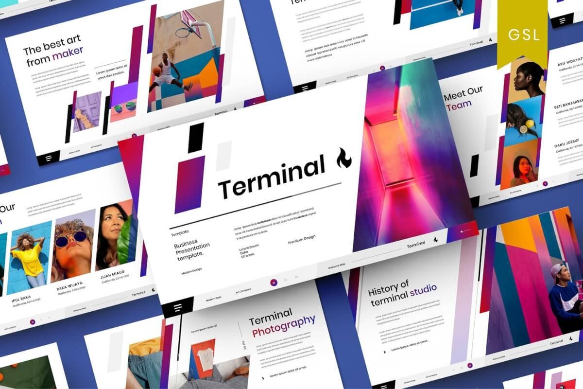 Terminal-商业计划策划Google幻灯片模板