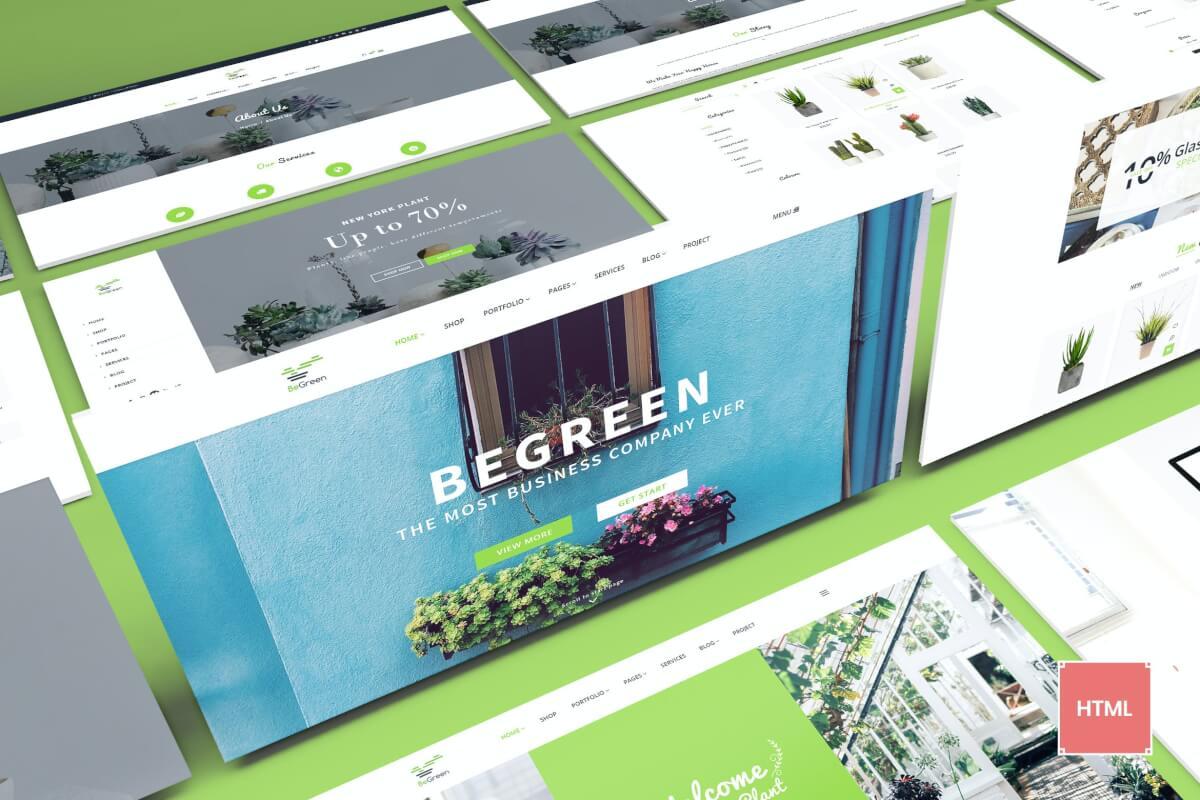 BeGreen-用于园林绿化的多功能Bootstrap自适应网站html模板