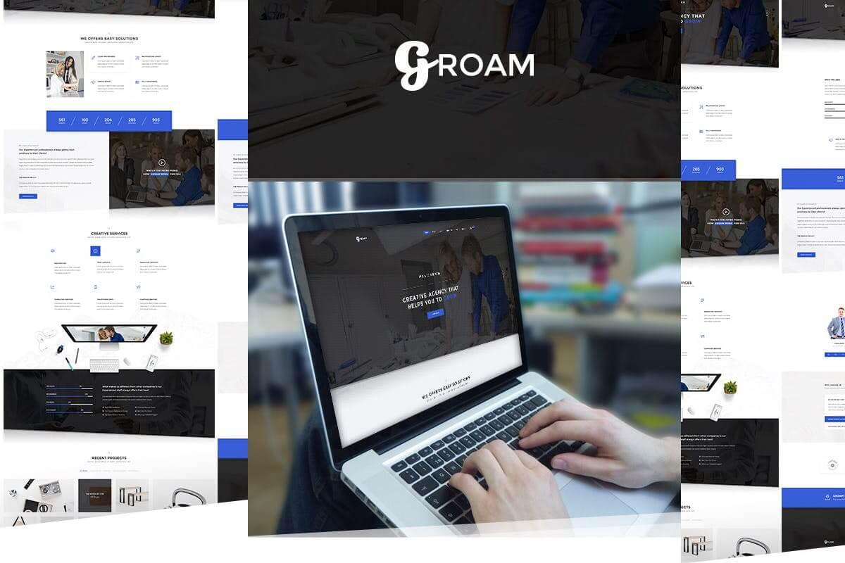 GROAM-多用途公司企业网站HTML前端模板