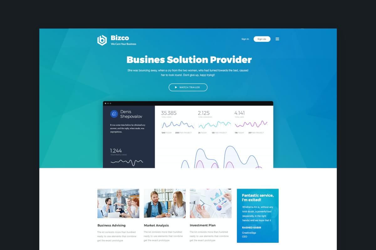 Bizco-商业和企业网站Bootstrap前端HTML设计模板