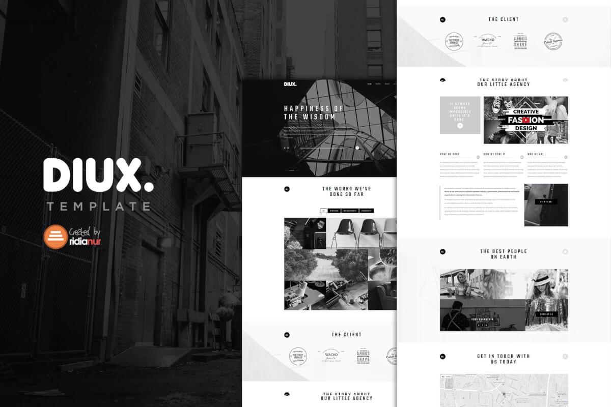 Diux-简洁的自适应公司官网Bootstrap前端html模板