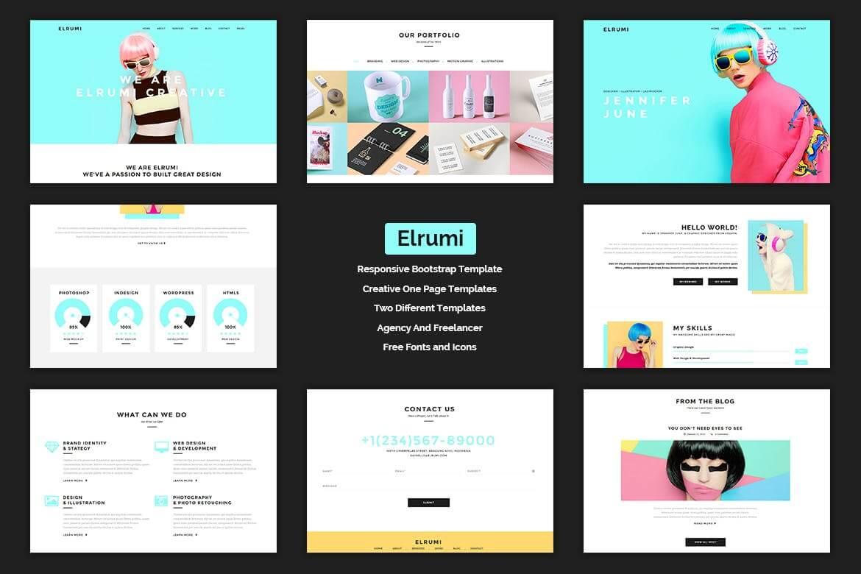 Elrumi-创新的HTML5网站响应式前端模板