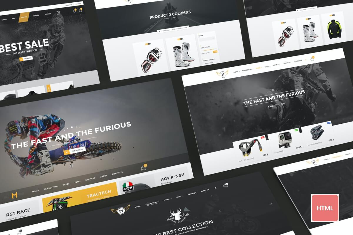 Motor Vehikal-摩托车在线商店网站HTML代码模板