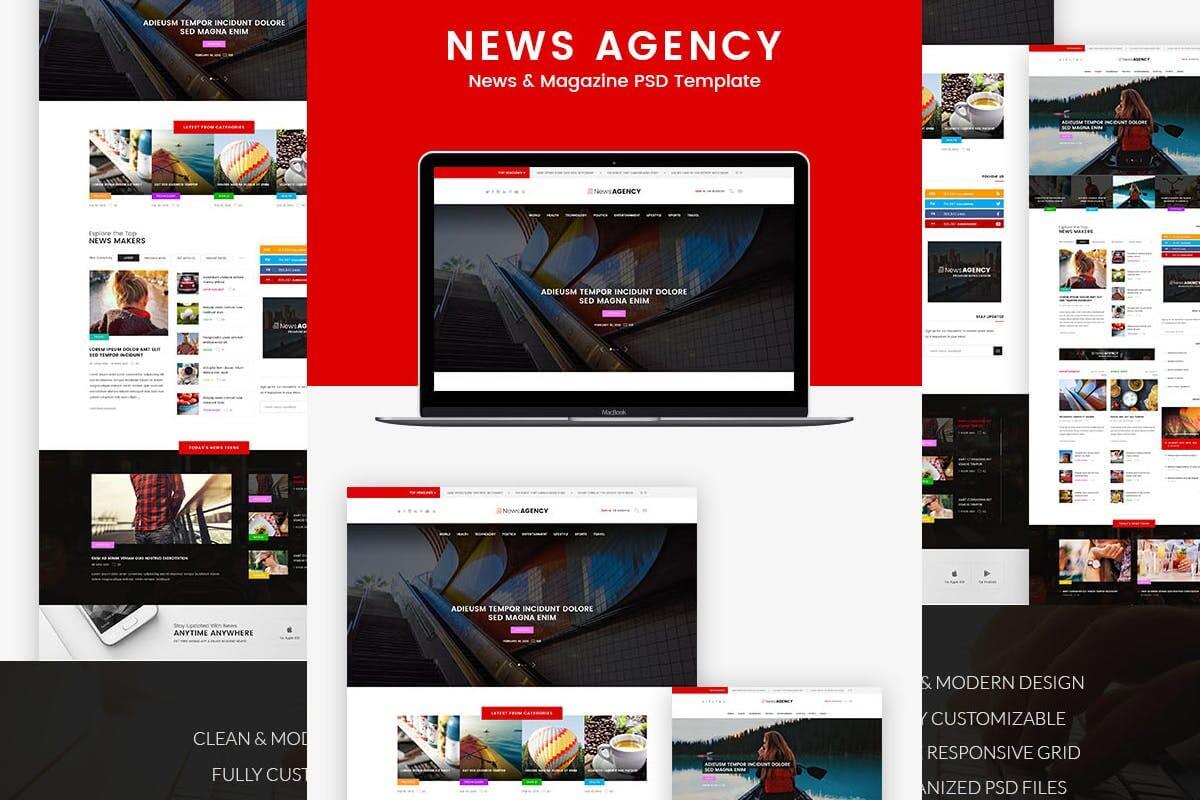 新闻社-新闻杂志报纸网站前端HTML模板