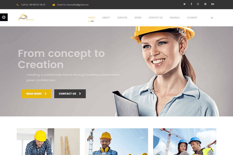 Arch-建筑和商业网站HTML前端模板