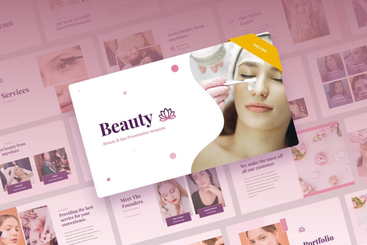 美容和水疗营销推广Google幻灯片演示