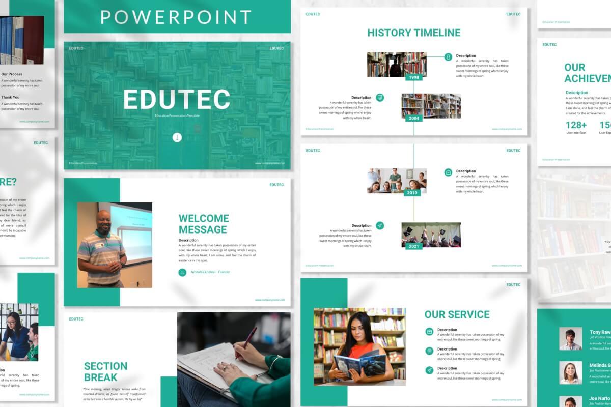 Edutec-教育培训宣传推广PPT模板