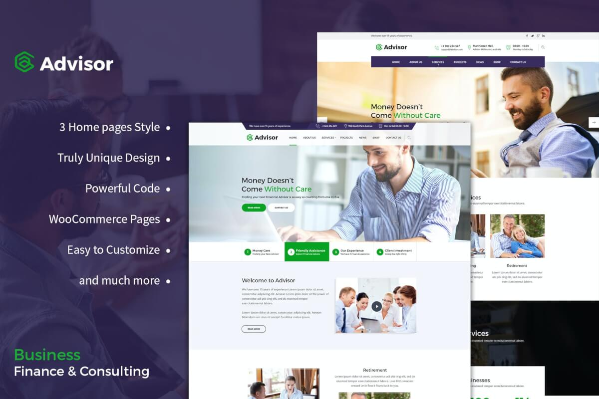 顾问咨询商业财务网站html设计模板