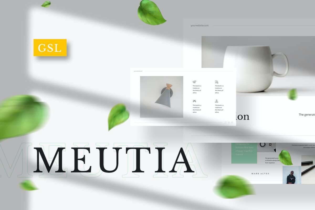 Meutia-极简主义的Google幻灯片模板