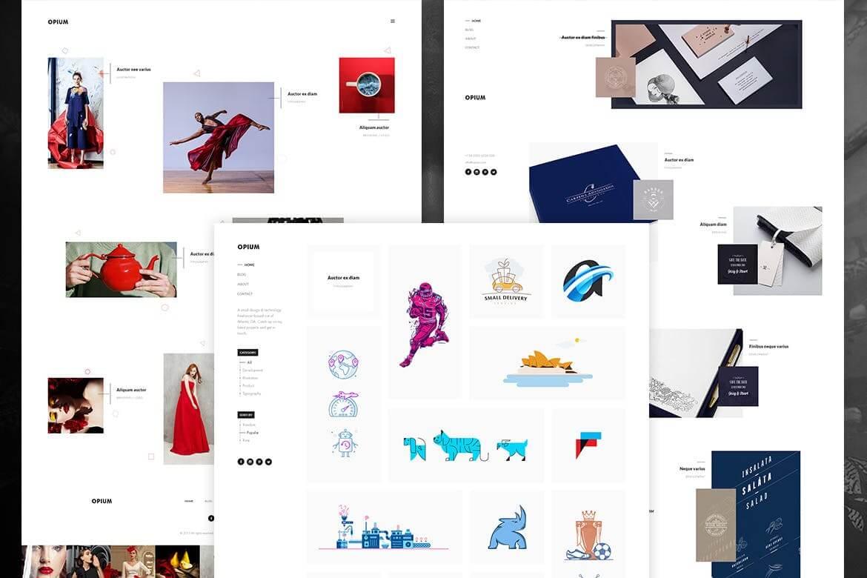 摄影作品集网站前端HTML模板