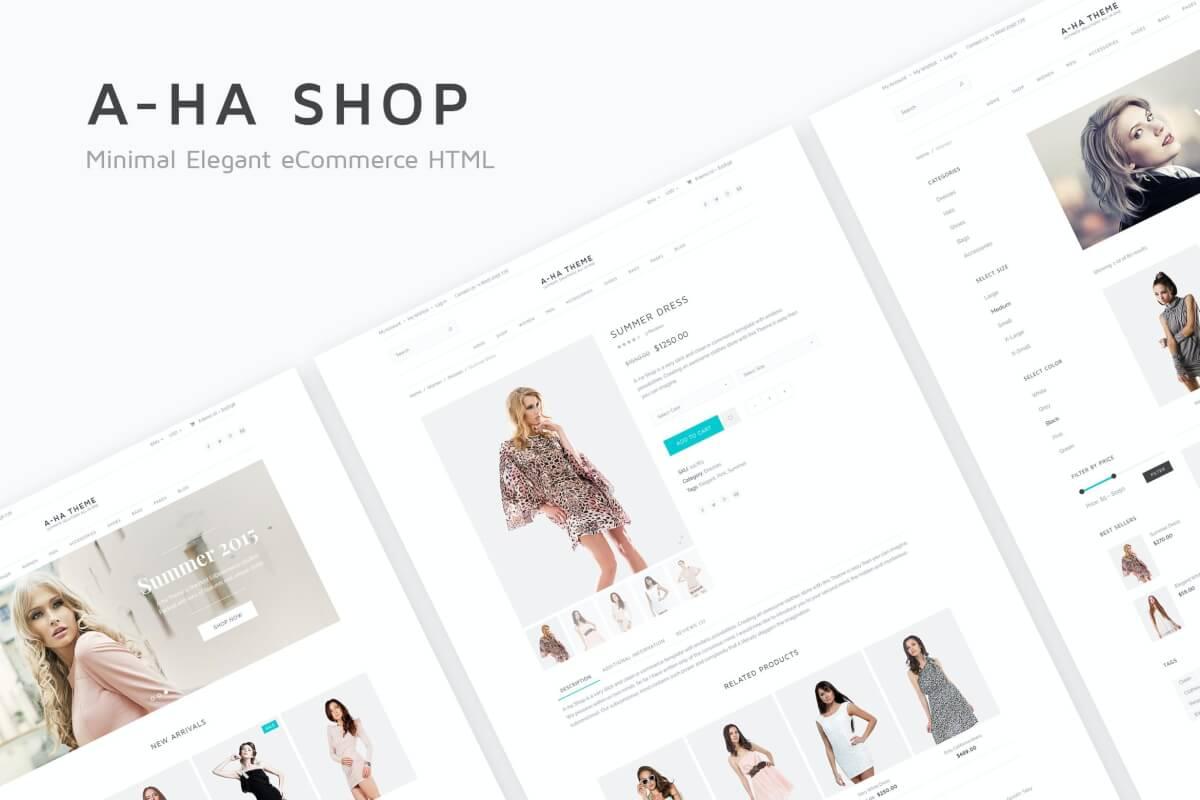 A-ha商店-电子商务Bootstrap网站HTML前端设计模板