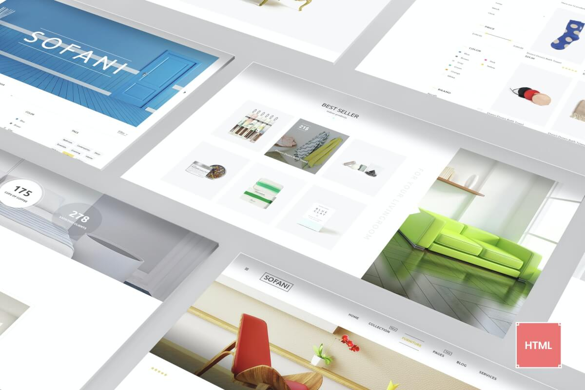 Sofani-家具店网站源码HTML设计模板