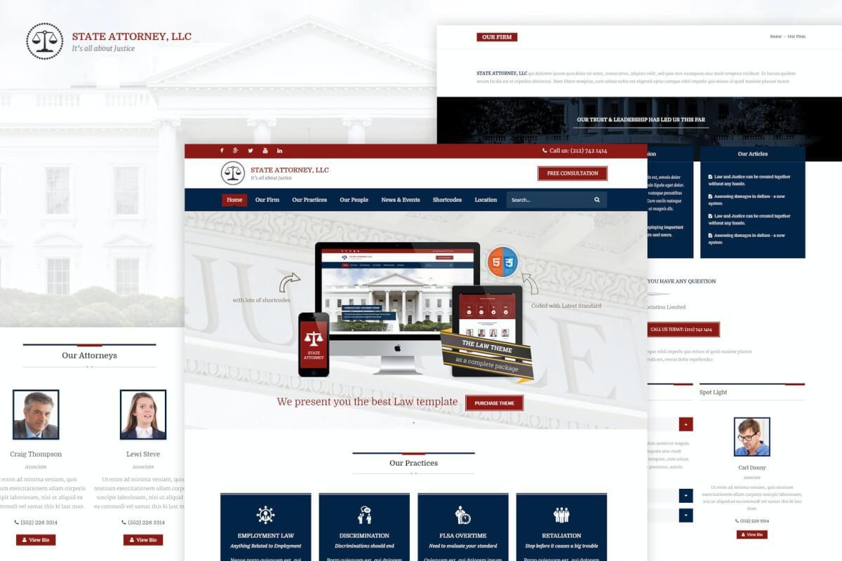 律师与法律| 律师网站HTML5响应式模板