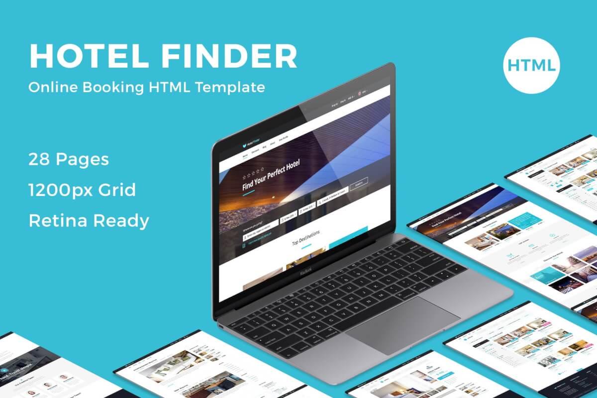 酒店在线预订官网HTML网站前端模板