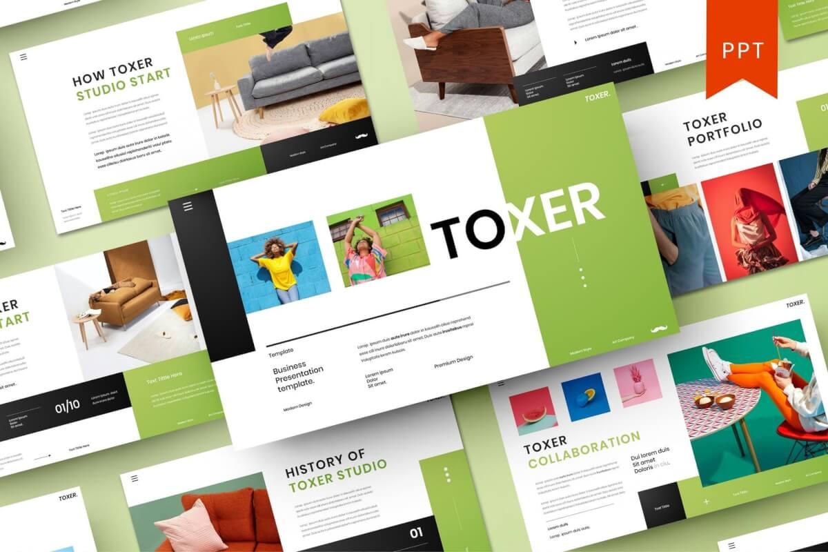 Toxer -简约大气公司介绍PPT模板