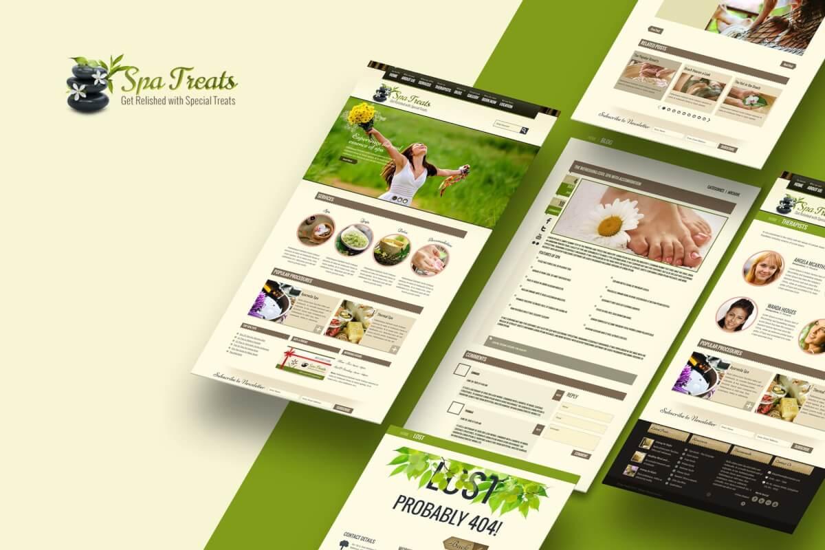 Spa沙龙美容护肤网站HTML模板