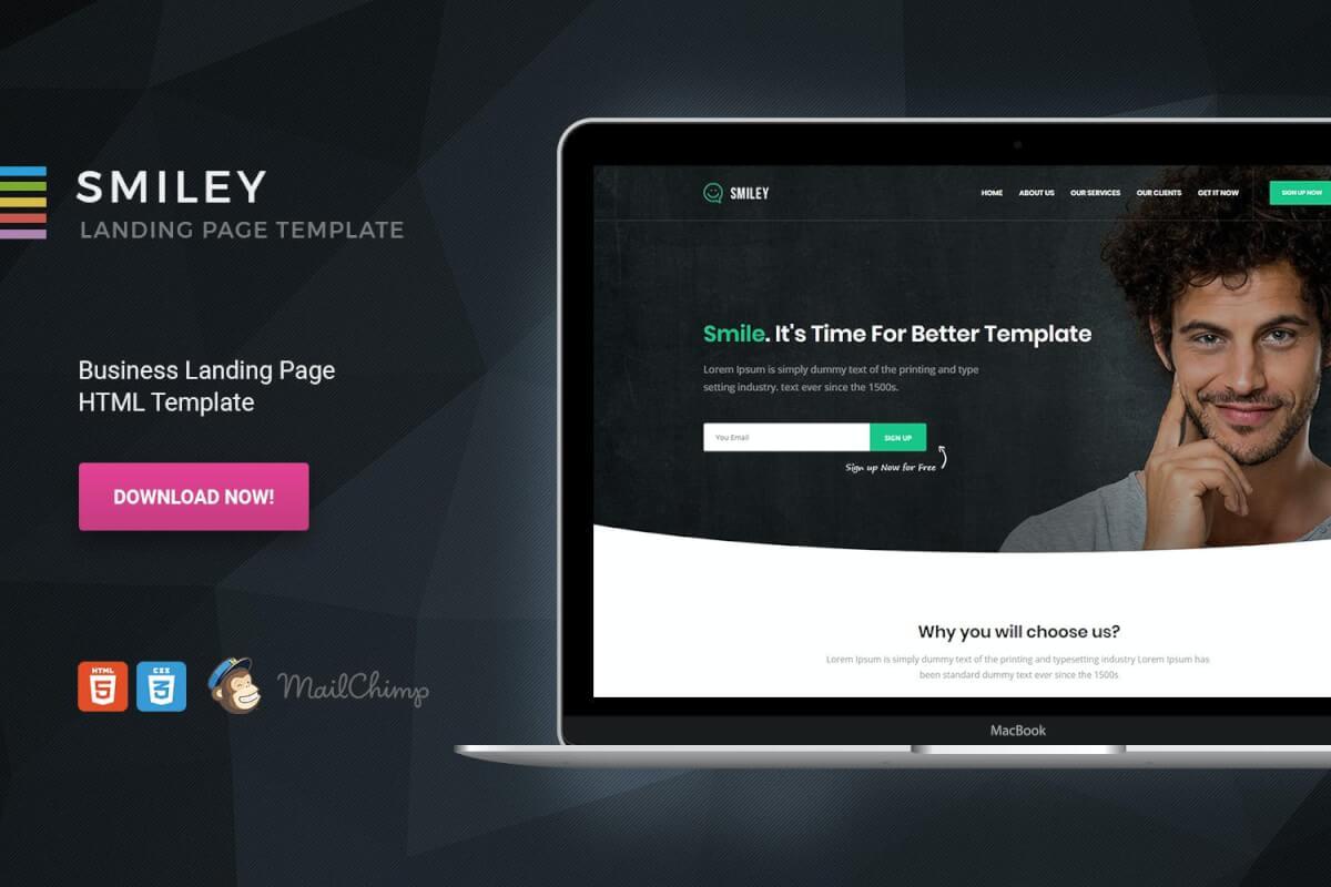 Smile-HTML销售业务自适应网站模板