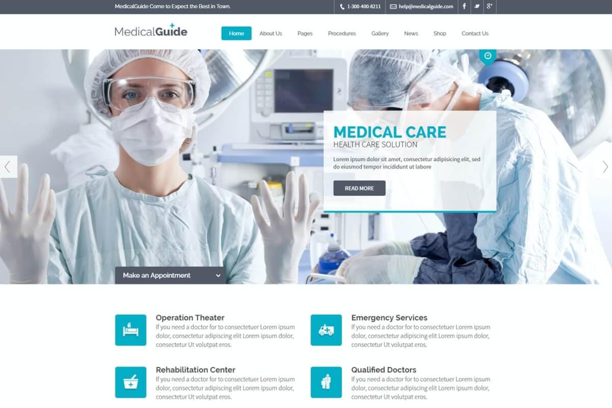 MedicalGuide-健康和医疗网站前端HTML模板