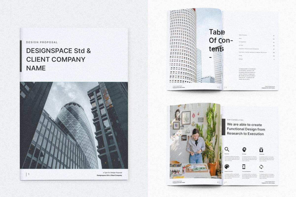 简约商务公司企业简介宣传画册模板