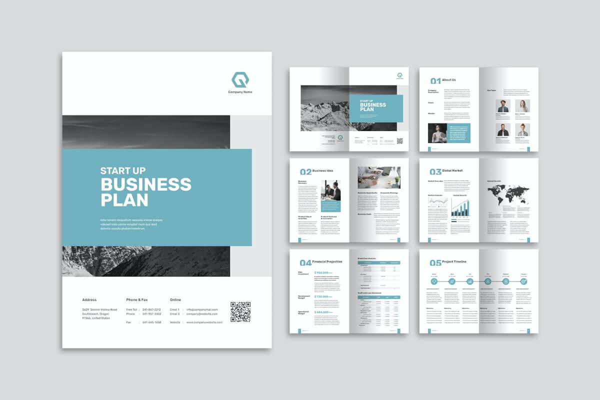 高端大气商务项目计划书企业画册模板