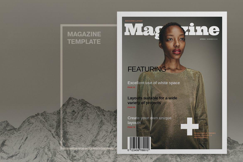 时尚杂志布局杂志封面模板