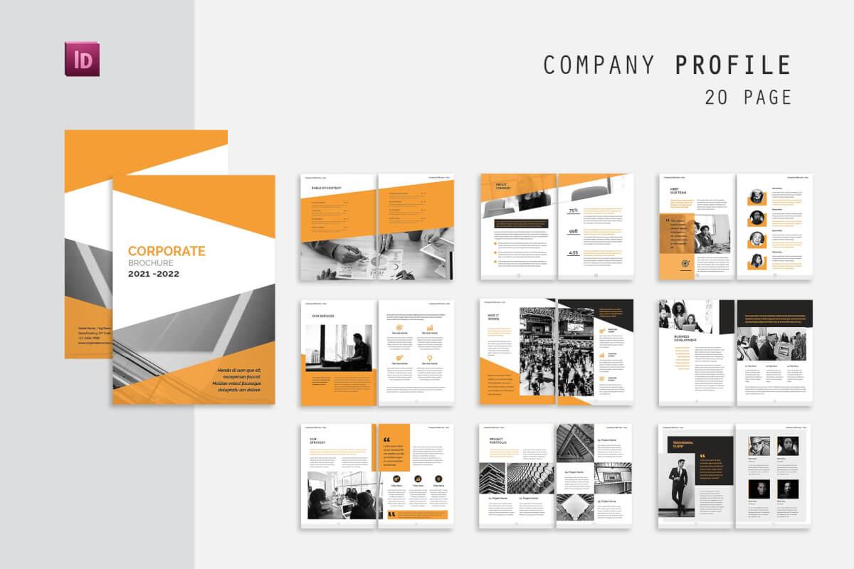 整套简约时尚风格企业画册排版公司杂志