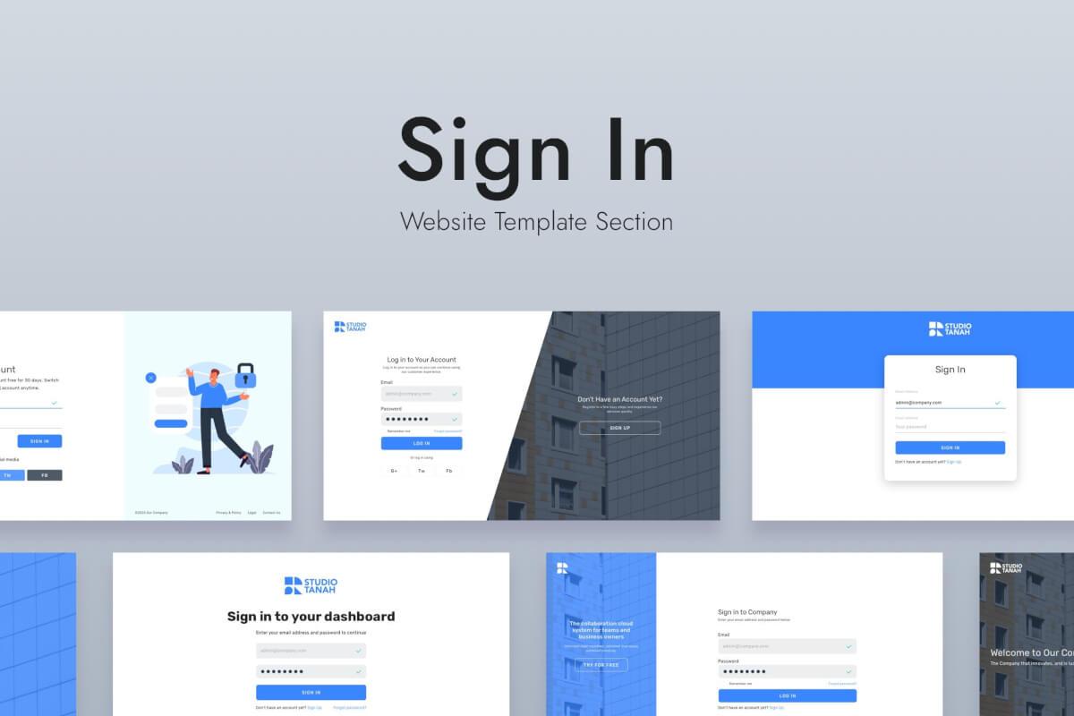 Web登录设计模板