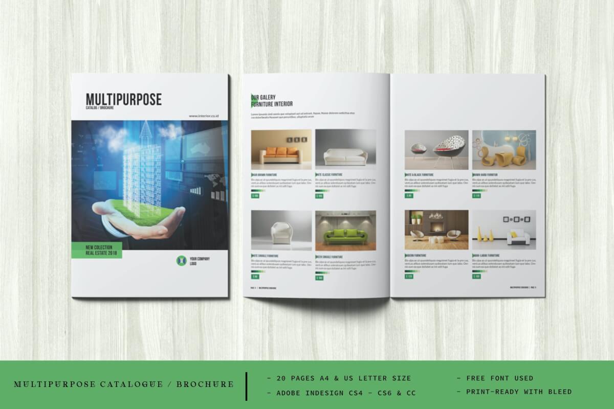 多功能目录/手册产品宣传画册设计模板
