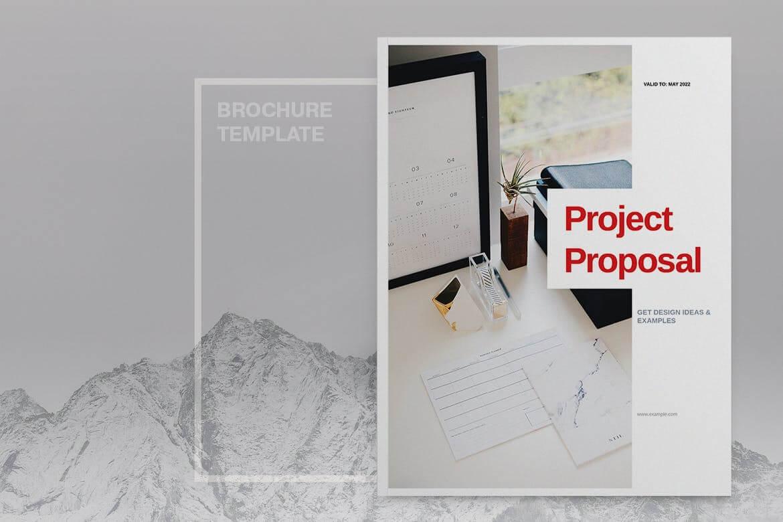 红色公司业务项目投标宣传画册模板