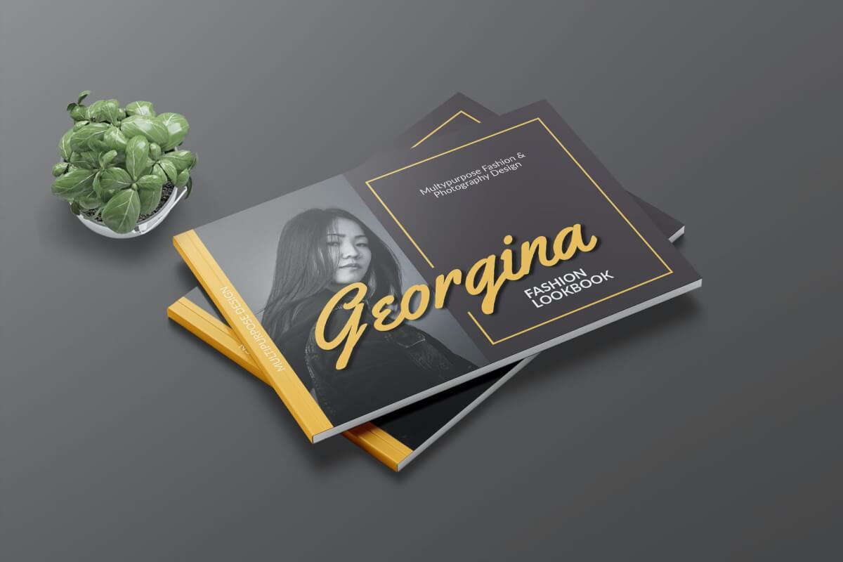 GEORGINA-时尚A4简约清新大气杂志画册模板